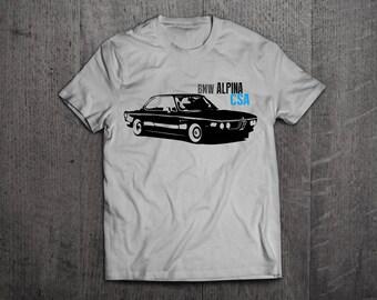 BMW shirts, BMW Alpina CSA t shirts, classic bmw t shirts, cars tshirts, german cars shirts, bmw t shirts, men tshirts, women t shirts
