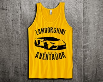 Lamborghini Aventador SV Tank Top, Lambo Aventador shirts, supercar shirts, cars tanks, Lambo shirts, Unisex Tank top, gym tanks Motomotive