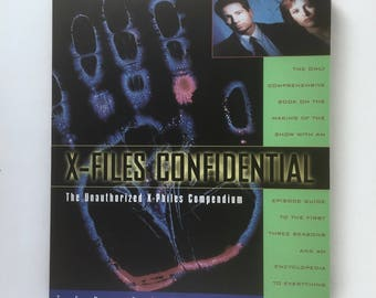 X-Files Confidential Book, X-Philes Compendium, Encyclopedia, Episode Guide Seasons 1 to 3, Paperback First Edition, The Truth is Out There