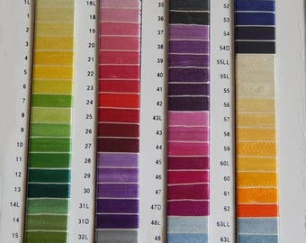 10% OFF Set of 75 Art Silk Thread Spools, Embroidery Thread, Art Silk Thread, Silk Embroidery Thread- Choose from Shade Card