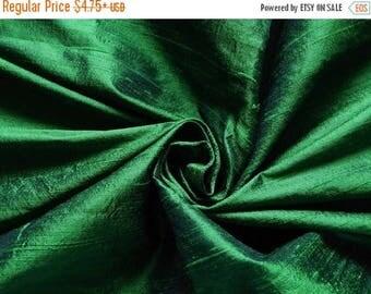 10% OFF Pure Silk Fabric, Pure Dupioni Silk Fabric, Silk Fabric, Indian Silk Fabric, Green Silk Fabric