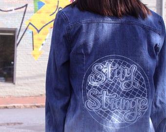 Stranger Things Hand-painted Denim Jacket/Shirt
