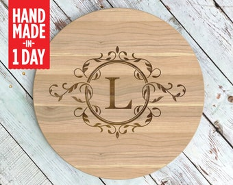 Lazy Susan, Custom Lazy Susan, Turntable, Lazy Susan Turntable, Christmas Gift, Rustic Kitchen Decor, Housewarming Gift - LS500