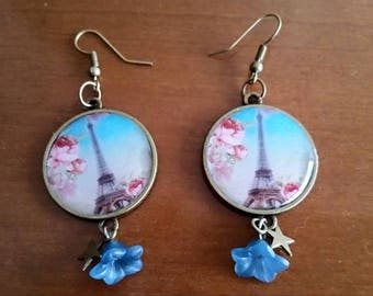 Paris themed earrings