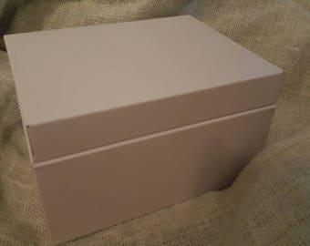 Metal Tin Office Box Storage Index Cards