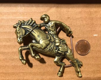 Solid brass belt buckle. Rider. Heavy. From 70-80. Good condition. Size ~90x60mm