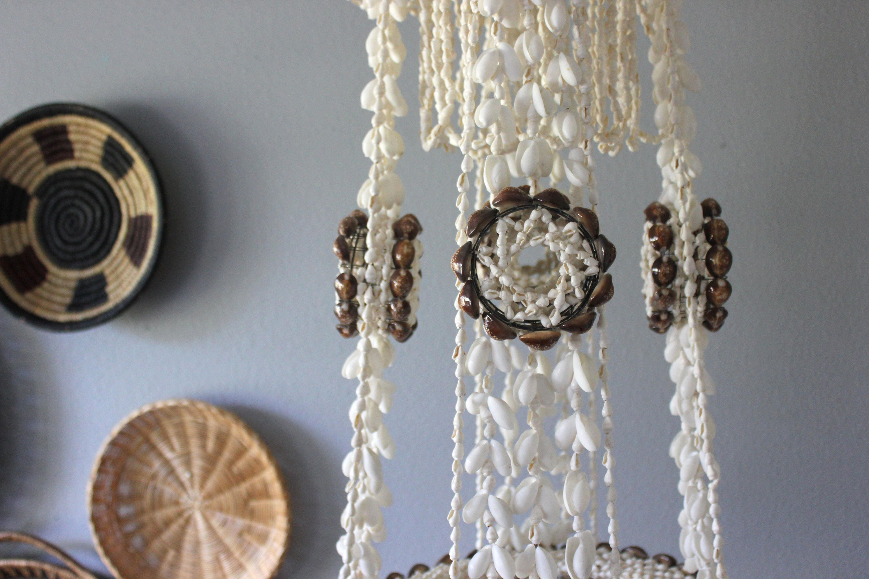 Large vintage bohemian hanging shell planter chandelier boho beach gallery photo gallery photo gallery photo arubaitofo Gallery