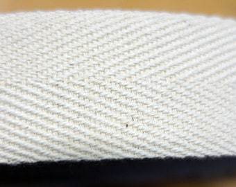 20 mm ecru cotton strap