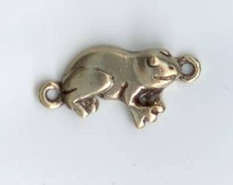 Gold plated frog charms