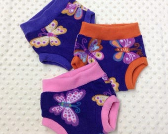 Girly Prints - Fleece Soaker, Cloth Diaper Covers