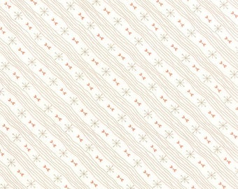 Moda SWEETNESS Quilt Fabric 1/2 Yard By Sandy Gervais - Snow/ Bunny Brown 17857 21