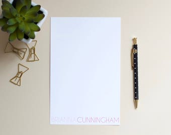 Personalized Notepad / Custom Notepad / Name Notepad / Initial Notepad