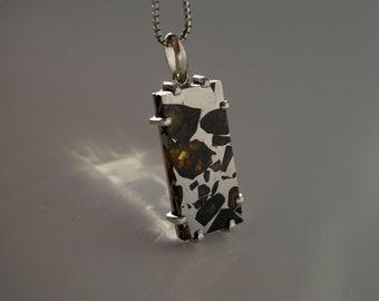Pallasite meteorite | seymchan | meteorite for sale | meteorite pendant | meteorite jewelry | pallasites pendants | pallasite jewelry