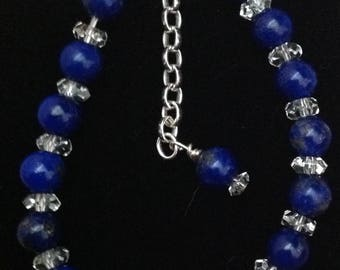 Lapis Lazuli Dragon Bracelet (adjustable)