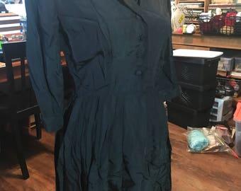 1950's Kerrybrooke Grosgrain Day Dress