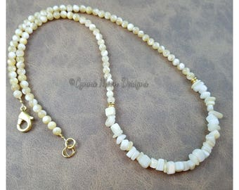 Mother of Pearl Crescent Necklace