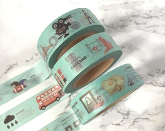City Landscape Washi Tape - City Landmark Building Washi Tape - Big Cities Washi Tape - Big Cities Washi