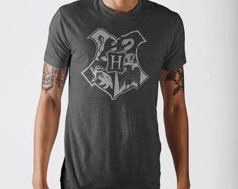 Mens Official Merchandise Harry Potter Charcoal T-Shirt