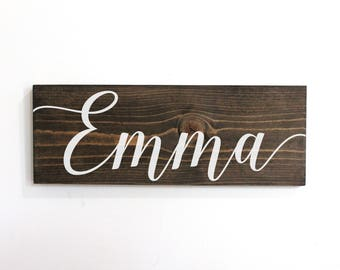 Woodland Nursery Decor Girl, Personalized Wall Decor For Girls, Nursery Sign Name, Baby Name Sign Rustic Woodland, Baby Shower Gift