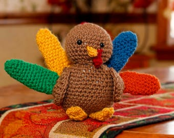 Amigurumi Stuffed Plush Turkey Crochet