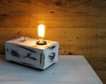 Iceberg White Box Desk Industrial Lamp