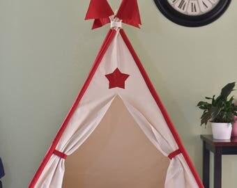 Star Canvas Kids Teepee, Kids Play Tent, Childrens Play House, Tipi,Kids Room Decor