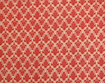 """Dressmaking Fabric, Red Fabric, Damask Print, Apparel Fabric, 44"""" Inch Cotton Fabric By The Yard ZBC8744D"""