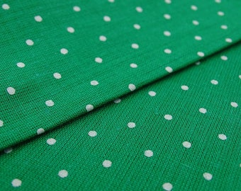 """Decorative Fabric, White Polka Dots, Green Fabric, Sewing Accessories, 44"""" Inch Cotton Fabric By The Yard ZBC9053N"""