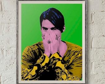 Stefon Snl, Saturday Night Live, Stefon Poster, Andy Warhol Portrait, Pop Art Print, Bill Hader, Weekend Update,Instant Download,Digital Art