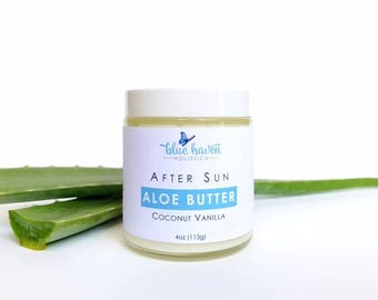 ALOE BUTTER, After Sun, Shea Butter, Organic Body Butter, Organic Skincare, Body Cream