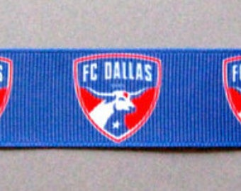 """FC Dallas Dog Collar - Side Release Buckle (1"""" Width) - Martingale Available"""