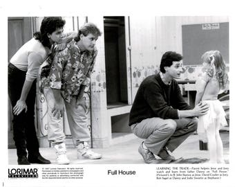 Full House – 1987 – B & W publicity still -  Cast Photo