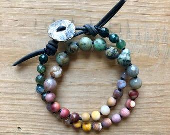 One Love Double Wrap Mala Bracelet