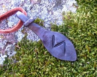 Forged Sowilo rune,  Viking pendant, amulet, protection amulet, Nordic Talisman,Necklace talisman
