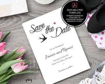 wedding, invitation, rustic save the date, wedding invitation, rustic, printable, save the date card, save the date, dove, bird,heart,pdf,01