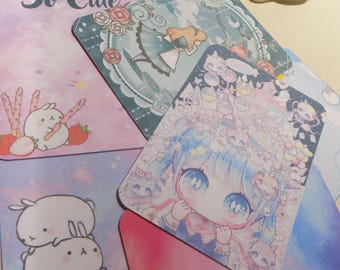 Project life collection kawaii physical cards