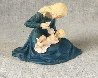 Vintage Sanmyro Japan Mother and Child Figurine