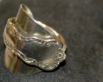 Silverplate Demitasse Spoon Ring - Size 9 1/2