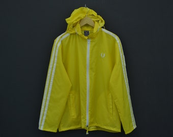 Fred Perry Windbreaker Mens Size M/L 80s 90s Fred Perry Vintage Mods Jacket