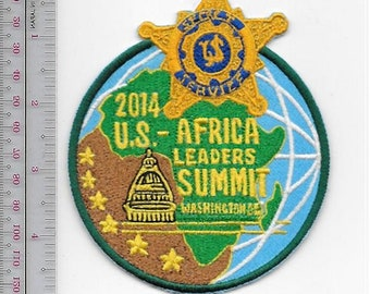 US Secret Service USSS Washington DC President Obama Protection Detail Africa Leader Summit 2014 Service Patch