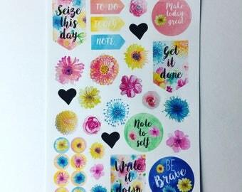 Secret Garden - planner/journal stickers