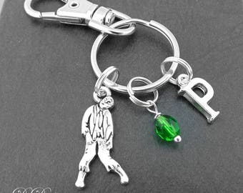 Zombie Bag Charm, Zombie KeyRing, Zombie KeyChain, Zombie Gifts, Horror Clip Keyring, Dead KeyChain, Horror Lovers Gifts