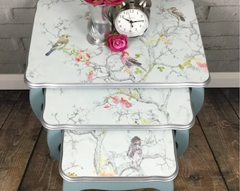 Vintage Painted Nest of Tables