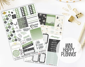 Christmas Sparkle Planner Sticker Kit | Made to fit the Mini Happy Planner
