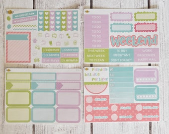 NO CODES PLEASE! Pastel Spring Mini Kit | Made to fit any planner! 611L