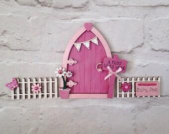 Magical Shimmer Pink Fairy Door Set