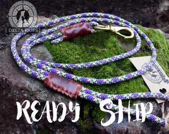 READY to SHIP! 6FT Orchid Leash || Rock Climbing Rope Dog Leash || Handmade in the USA