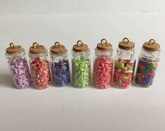 Miniature Dollhouse 1:12th Scale Candy In Glass Jar