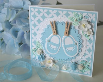 Baby boy greeting card, Baby boy expecting card, Baby boy card, Card for baby boy, Welcome baby boy card, Newborn card, Baby boy shoes