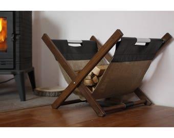 Wood basket Storage basket Basket Firewood holder Firewood storage Firewood basket